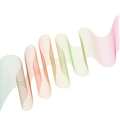wave line graphic vector image