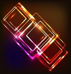 Abstract neon background with rounded rectangles vector image vector image