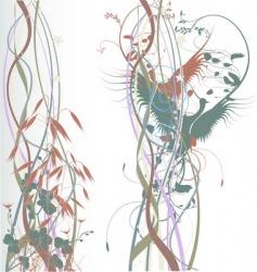 birds in love pastel background vector image