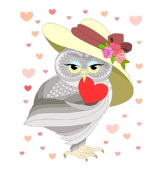 love the owl vector image