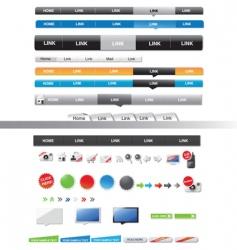menu sets vector image vector image