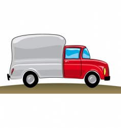 cartoon pickup truck vector image