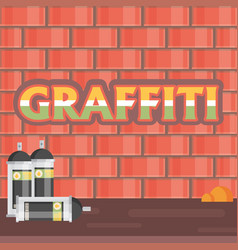 creative graffiti flat style vector image vector image