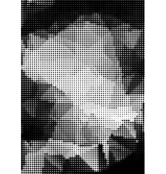 Grunge halftone background rectangular A4 size vector image vector image