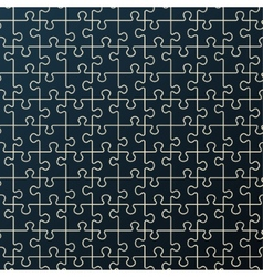 Seamless abstract pattern Black puzzle vector image