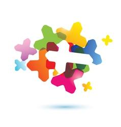 abstract human brain icon vector image vector image