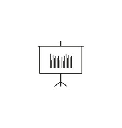 business presentation with analytics icon vector image