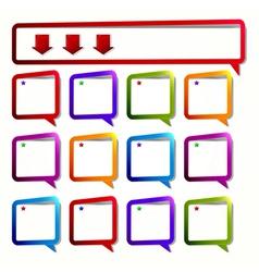 empty dialogue frame sticker vector image vector image