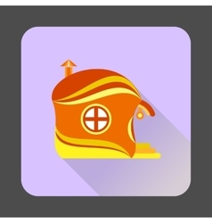 Fairy-tale house icon flat style vector image