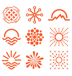 isolated abstract round shape orange color logo vector image