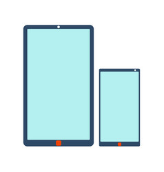 mobile phone and tablet icon vector image