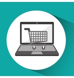 online store shopping cart graphic vector image vector image
