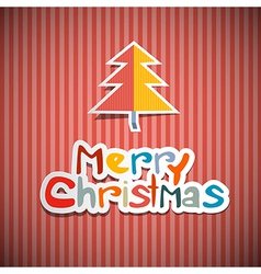 Retro Paper Christmas Background vector image vector image