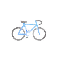 watercolor bicycle on white vector image vector image