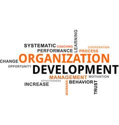 Word cloud - organization development vector
