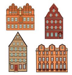 building set european classical architecture vector image vector image