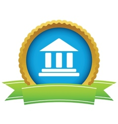 Classical building icon vector image