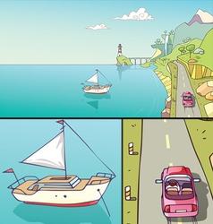 Coastline vector image vector image