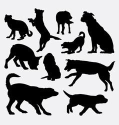 Dog pet animal silhouette 9 vector image