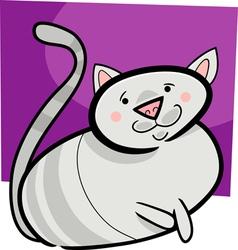 doodle cat vector image