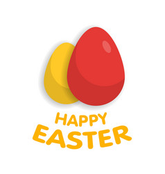 easter eggs with sign vector image vector image