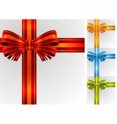 gift ribbon vector image vector image