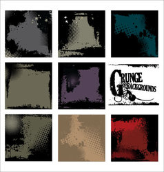 grunge backgrounds - set vector image vector image
