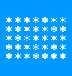 white snowflakes collection vector image