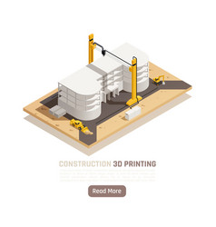 3d printing isometric vector image