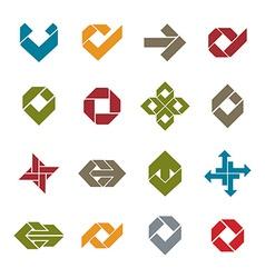 Abstract unusual icons set creative symbols vector image