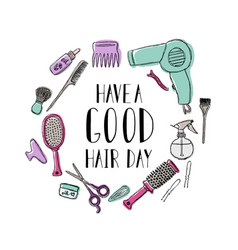 Accessories for the hairdresser s motivational vector