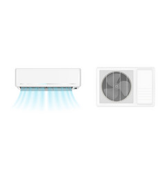 air conditioner with cold wind vector image