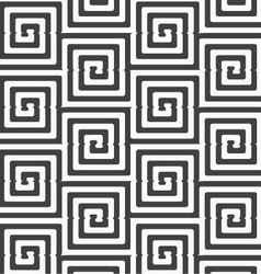Alternating black and white cut rounded squares vector image
