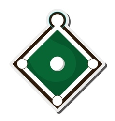baseball field icon vector image
