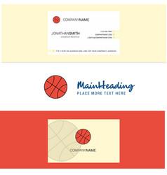 beautiful basket ball logo and business card vector image