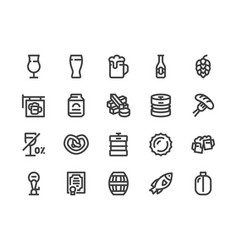 Beer line icon flat style vector