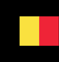 Belgian national flag with official colors vector