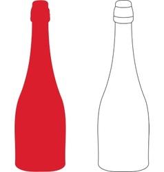 Bottle contour vector image