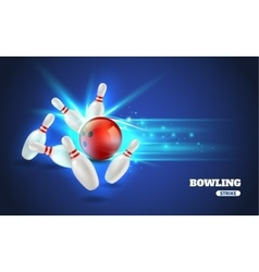 Bowling Strike vector