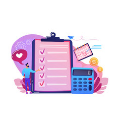 budget planning concept vector image