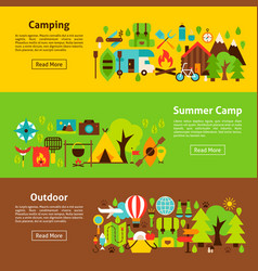 camping web banners vector image