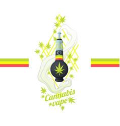 cannabis vipe bong vector image