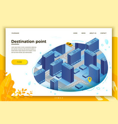 car route from beginning to destination point vector image