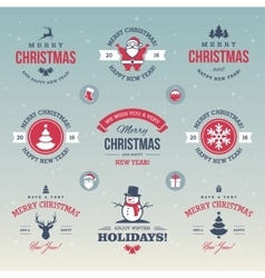 Colored Christmas labels vector image