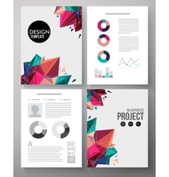 Colorful design template for a business project vector image