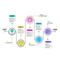 company journey path infographic roadmap with vector image