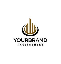 creative real estate building concept logo design vector image