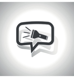 Curved flashlight message icon vector