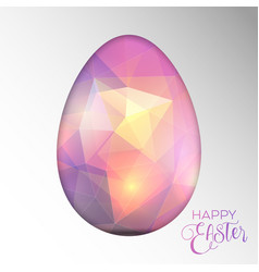 Decorative easter background with cut out egg vector