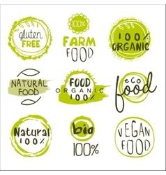 Eco food lables set vector